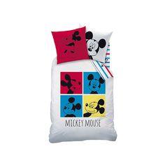 Chouette parure de lit Mickey au look retro !  37,99 EUR #paruredelit #chambremickey #chambreenfant