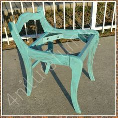 Beautiful vanity chair color turquoise