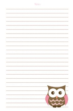 owl journal page Free Printable Stationery, Printable Paper, Planner Sheets, Planner Pages, Journal Paper, Journal Cards, Erin Condren Life Planner, Stationery Paper, Planner Organization