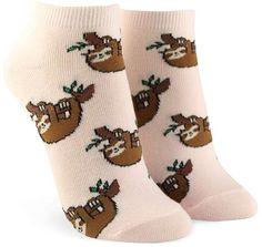 FOREVER 21 Sloth Print Ankle Socks