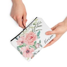 Blush Floral Bag Presents For Girls, Floral Bags, Bridal Shower Party, Travel Toiletries, Toiletry Bag, Party Favors, Blush, Gifts, Accessories