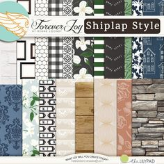 Digital Scrapbooking Kit - SHIPLAP STYLE Page Kit | ForeverJoy Designs