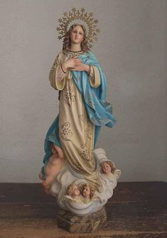 Statue Mary Our Lady Fatima 3.5 inch Painted Resin Figurine Patron Catholic Box