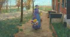 George Hitchcock, Flower Girl in Holland, 1887