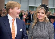 Queen Maxima and King Willem-Alexander of The Netherlands visit the former mine region in Limburg