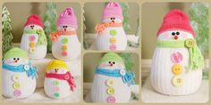 3 incredible tutorials for super cute and chubby DIY Snowman Crafts to do before Christmas! Christmas Craft Projects, Christmas Ornament Crafts, Christmas Snowman, Diy Craft Projects, Fun Crafts, Craft Ideas, Christmas Ideas, Christmas Decorations, Reindeer Ornaments
