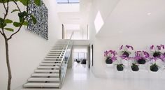 Are you looking for best modern staircase design? Lets checkout 50 cool staircase ideas for modern homes. Creative space saving for staircase design. Modern Staircase, Staircase Design, Staircase Ideas, Marble Staircase, Dream Home Design, Modern House Design, Luxury Estate, Luxury Homes, Halls
