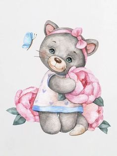Cute Animals Images, Cute Images, Baby Elephant Drawing, Cross Stitch Games, Ballerina Art, Baby Posters, Baby Illustration, Animated Cartoons, Nursery Prints