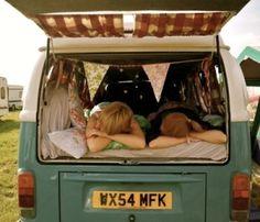 camp in a van by estela