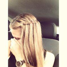 waterfall braid - simple and pretty