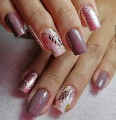 Cute Nail Art, Cute Nails, Square Nail Designs, Square Nails, Trendy Nails, Bb, Beauty, Nail, Ideas