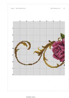 Cross Stitch Designs, Cross Stitch Patterns, Cross Stitch Rose, Baby Blanket Crochet, Embroidery Stitches, Needlepoint, Flowers, Crafts, Crossstitch