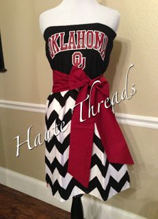 Haute Threads Boutique OU Oklahoma Sooners Dress