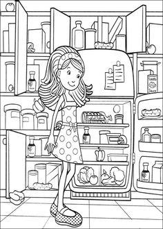 coloring page Groovy Girls KidsnFun Adult Coloring Pages