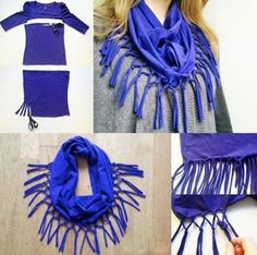 Westside is one of the most trendy store Convert your old #tshirt to a #scarf in a jiffy!  Are you going to try this? #Fashion #DIY