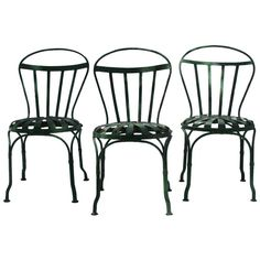 Early French Garden Chairs by Francois Carre | From a unique collection of antique and modern garden furniture at https://www.1stdibs.com/furniture/building-garden/garden-furniture/