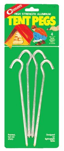 Coghlans 8046  Tent Pegs  4 Pack >>> You can get additional details at the image link.Note:It is affiliate link to Amazon. #follow