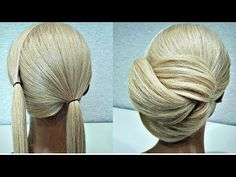 A simple hairstyle of 2 x Ponytails! A simple hairstyle of 2 ponytails! Fast Hairstyles - A simple hairstyle of 2 x Ponytails! A simple hairstyle of 2 ponytails! Fast Hairstyles, Box Braids Hairstyles, Ballroom Hair, Hair Upstyles, Simple Wedding Hairstyles, Braided Updo, Hair Videos, Hair Hacks, Hair Trends