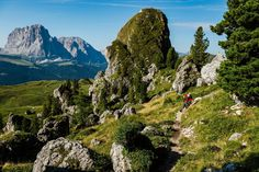 The best thing about this trail is how close it is to the little hut Pieralongia, which is just minutes away from the spot where Tobias Woggon is captured. The hut is located right by the foot of the impressive Geisler massive in Val Gardena Seceda. The Perfect stop for a snack or organic juice.