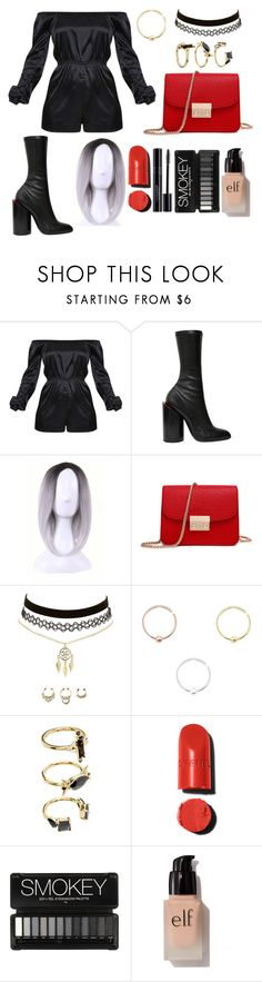 """""""Untitled #127"""" by lavinia-voin ❤ liked on Polyvore featuring Givenchy, WithChic, Charlotte Russe, Noir Jewelry and e.l.f."""