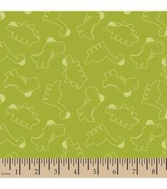 "Snuggle Flannel Fabric 42""-Dino Toss Green Online Craft Store, Craft Stores, Dinosaur Fabric, Red Flannel, Fabric Shop, Baby Dogs, Little Babies, Snuggles, Creative"