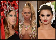 The worst beauty looks on the 2015 Met Gala red carpet were way too over-the-top and needed to be taken down a few notches. Sleek Updo, Met Gala Red Carpet, High Ponytails, Way Down, Bridal Beauty, Red Carpet Fashion, Makeup Trends, Cool Hairstyles, Hair Makeup
