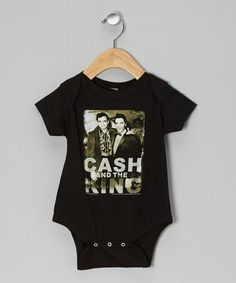 Take a look at this Black 'Cash and the King' Bodysuit - Infant by Zion Rootswear on #zulily today!