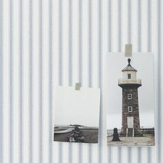 Papel pintado rayas herringbone azul, telas & papel