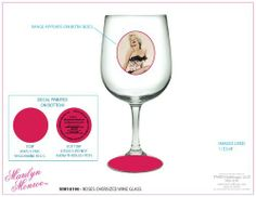 Marilyn Monroe - Roses Oversized Wine Glass by TMD Holdings, LLC. $12.99