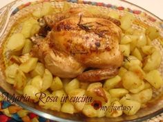 pollo al forno con patate - Maria Rosa in cucina