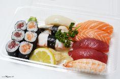 Wer kann jedes einzelne Sushi/Maki benennen? Die Auflösung findet ihr hier: http://blog.mjam.net/sushi-mix/