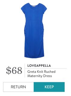 Loveappela Greta knit ruched maternity dress #stitchfismaternity https://www.stitchfix.com/referral/7393950?som=c&sod=i