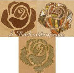 10652 Rose machine embroidery set