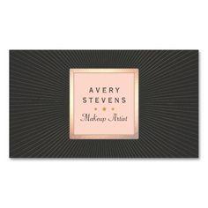 100 best makeup artist business cards images on pinterest makeup vintage makeup artist pink and black gold sunburst business card colourmoves