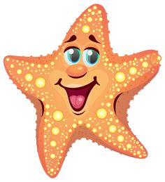 Cartoon Starfish PNG Clipart Image