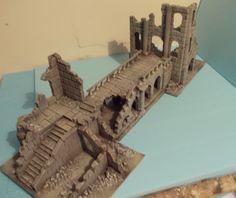 Ancient Ruin Set - Osgiliath - Frostgrave - Fantasy Wargames Scenery - Terrain…