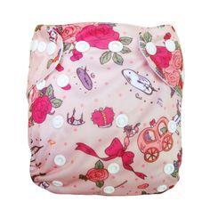 Alva Reusable Washable  Baby Cloth Diaper One Size Pocket Nappy  +1 Insert N35 #ALVA