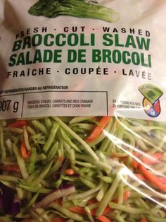 "Bacon Broccoli ""crack slaw""...great idea for a side."