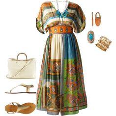 Ανοιξιάτικα boho φορέματα για παχουλές
