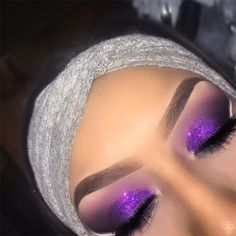 See this Instagram photo by @vmariexoxo_ • 297 likes  Purple glitter eye shadow eye makeup