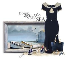 """Nautical Dress"" by dgia ❤ liked on Polyvore featuring moda, Stop Staring!, Michael Kors, Lipsy e Betsey Johnson"