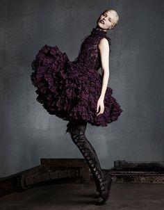 "Eva Herzigova in ""The Development of Form"" by Luigi & Daniele + Iango for Vogue Japan, September 2014"