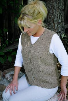 Knitting Pure and Simple--Diane Soucy--Basic Cardigan Vest for Women