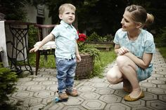 """Turquoise straight dress with """"Owly Blue"""" pattern 