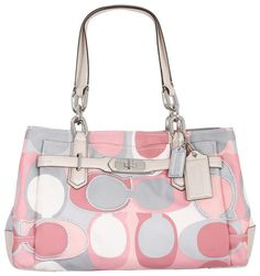 Coach Purse Handbag, Love the Pinks & Gray. I'm not a coach person, but I love this one!