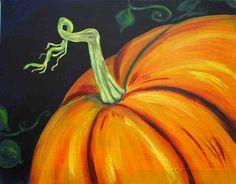 pumpkin painting canvas
