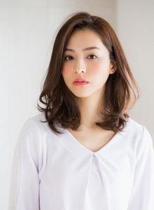 Korean Medium Hair, Korean Hair Color, Korean Short Hair, Medium Hair Styles For Women, Medium Hair Cuts, Medium Permed Hairstyles, Redhead Hairstyles, Korean Hairstyles Women, Japanese Hairstyles