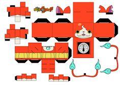 Resultado de imagen para yokai watch de papercraft