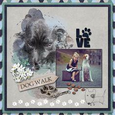 *Dogs Love Walks* by Lara's Digi World Walking By, Dog Love, Walks, World, Dogs, Shop, Movie Posters, Art, Art Background