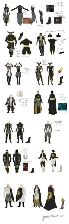 Inquisition Formal Wear - DETAILS by jadenwithwings on DeviantArt